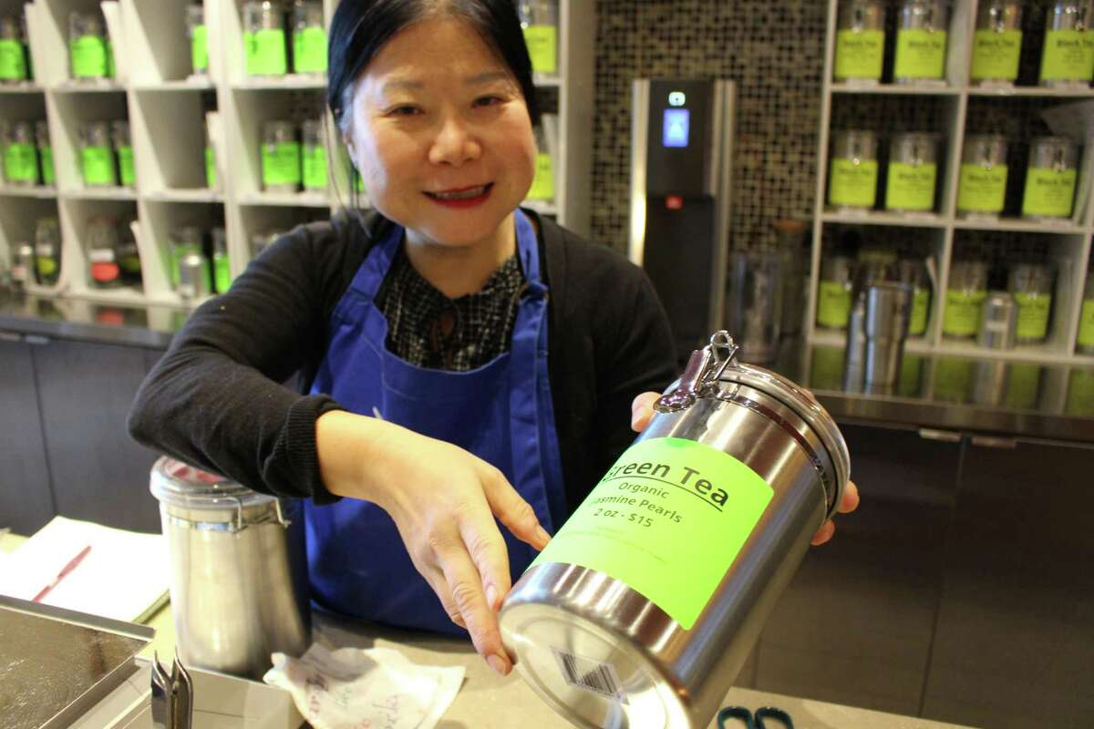 Musetta Lalla, owner of Tealalla in Trumbull, one of several area tea sellers who have benefited from the closure or larger chain competitors such as Teavana.