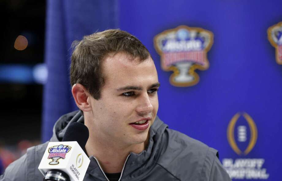 Clemson wide receiver Hunter Renfrow talk to reporters during media day for the upcoming Sugar Bowl semi-final playoff game against Alabama, for the NCAA college football national championship, in New Orleans, Saturday, Dec. 30, 2017. Photo: Gerald Herbert / Associated Press / Copyright 2017 The Associated Press. All rights reserved.