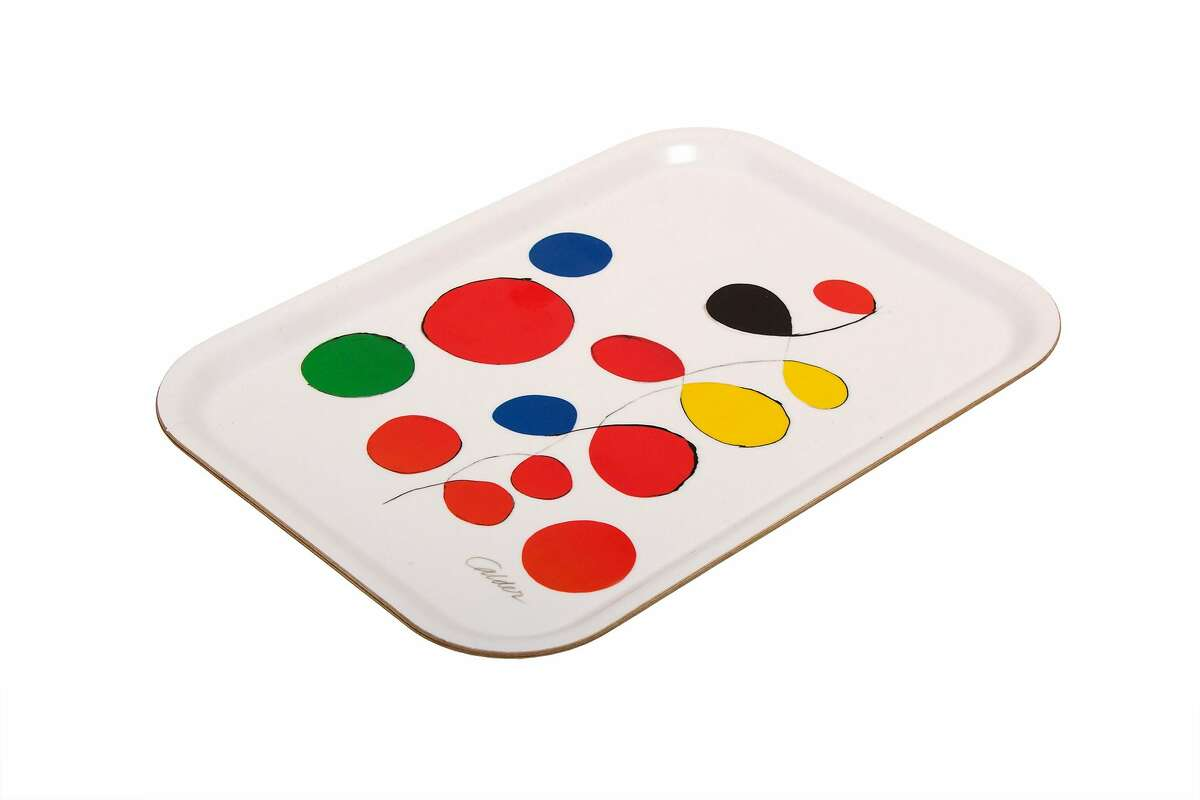 A tray featuring Alexander Calder's Untitled (Spanish Refugee Aid C) available at the SFMOMA museum store, $30.