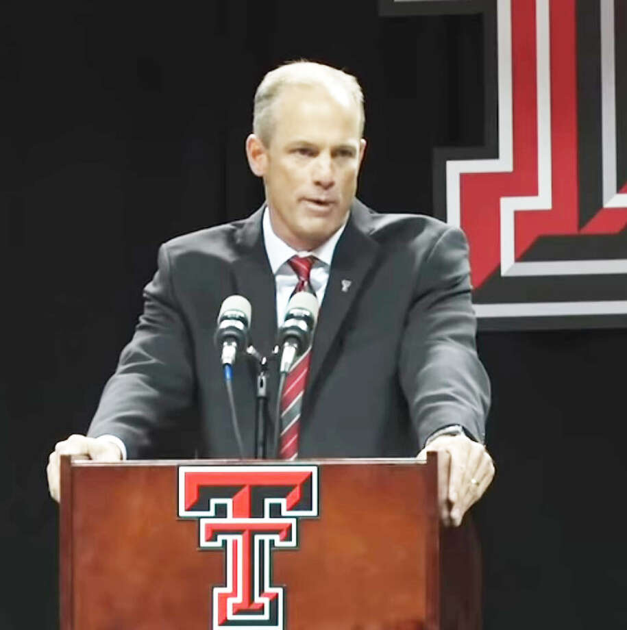 Texas Tech head football coach Matt Wells
