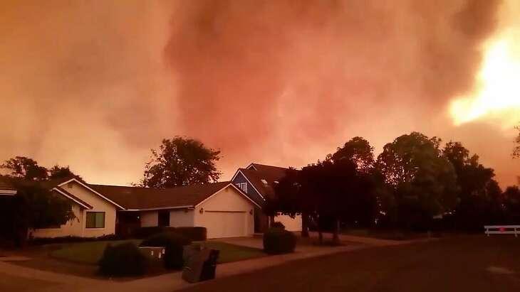 Screenshot of video from Cal Fire.