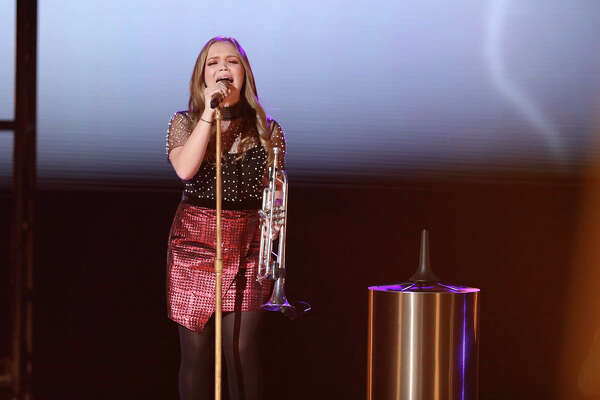 Sarah Grace during top 10 week on The Voice.