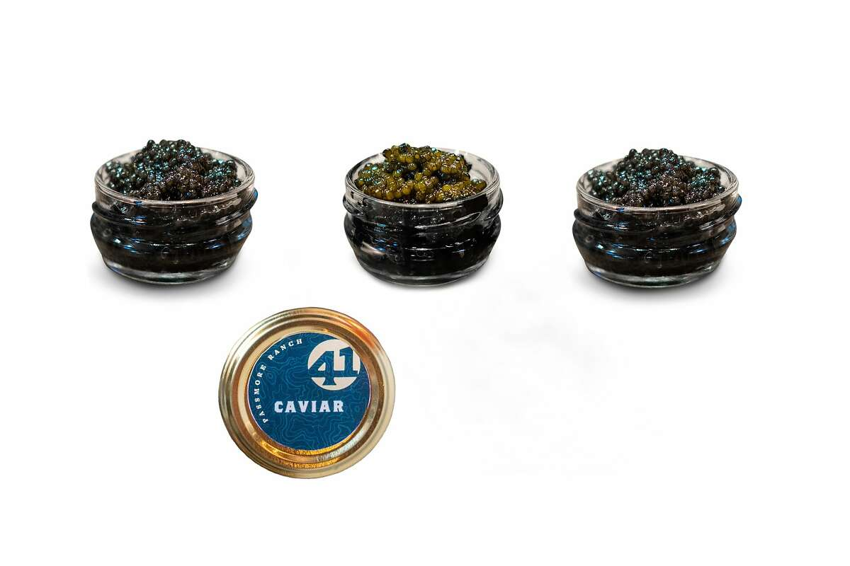 Passmore Ranch's caviar gift set includes 5 grams each of Ranch Reserve, Passmore Select, and Circle 41 caviars ($139).