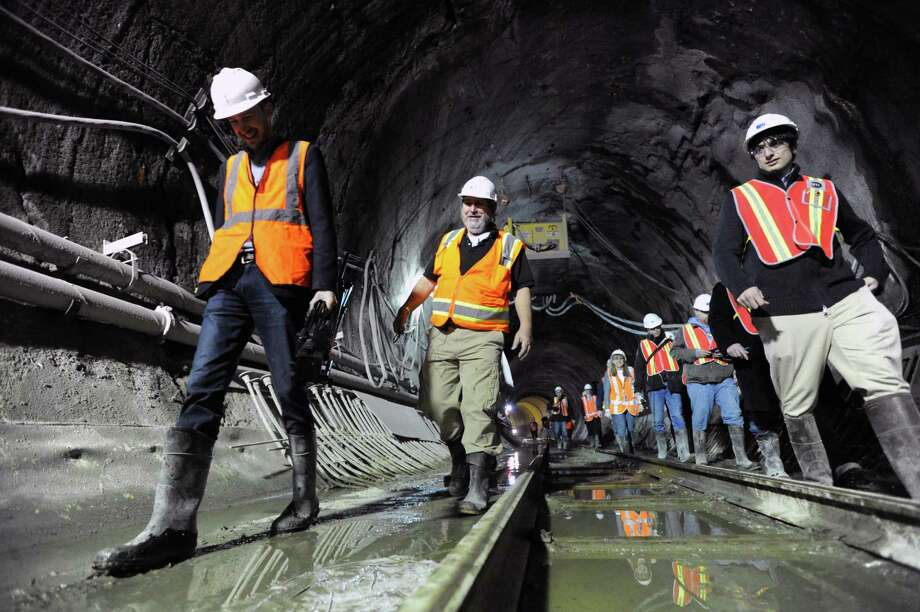 Metropolitan Transportation Authority gives a tour of the East Side Access Project in 2013. Photo: Bob Luckey / File Photo / Greenwich Time