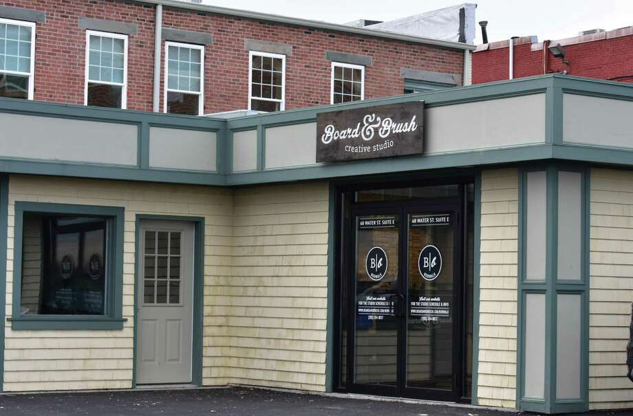 Board & Brush Creative Studio's newest location at 68 Water St. in Norwalk, Conn., in December 2018. Photo: Alexander Soule / Hearst Connecticut Media / Stamford Advocate