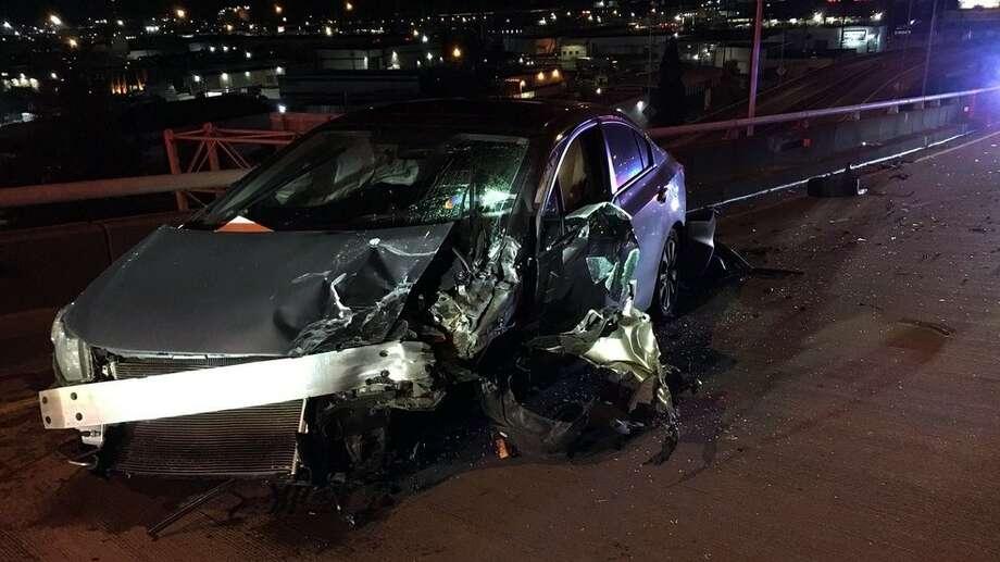 Washington State Patrol provided this photo of the crash. Photo: Washington State Patrol Photo