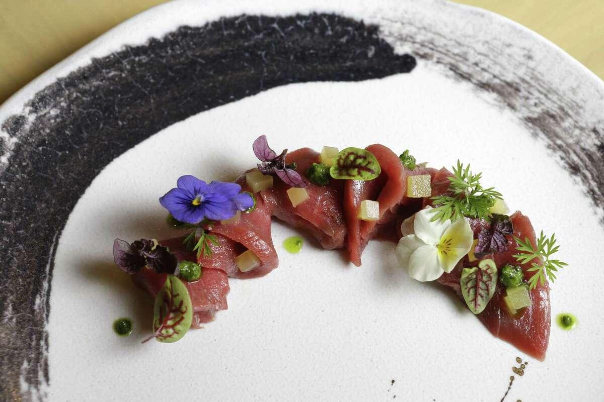 Bluefin (hon maguro crudo) at Tobiuo Sushi & Bar