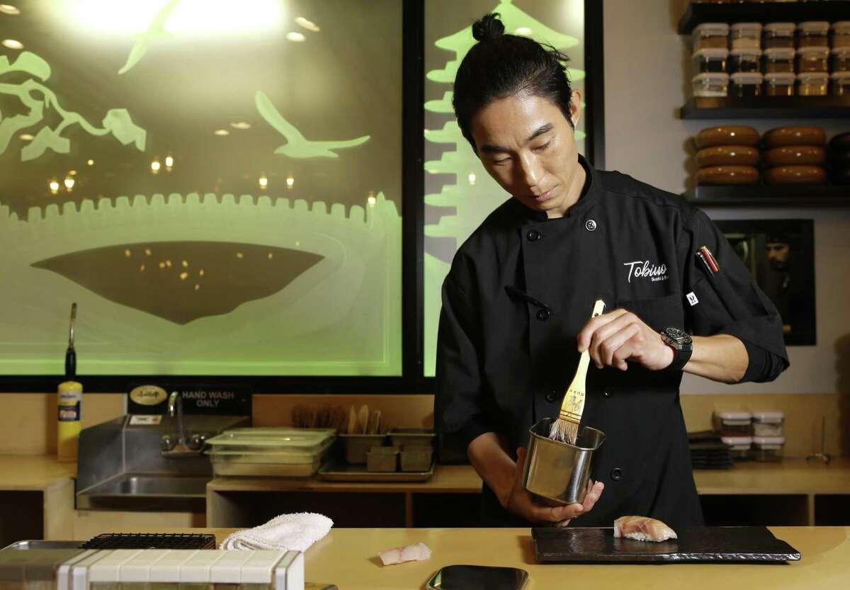 Chef Mike Lim at Tobiuo Sushi & Bar