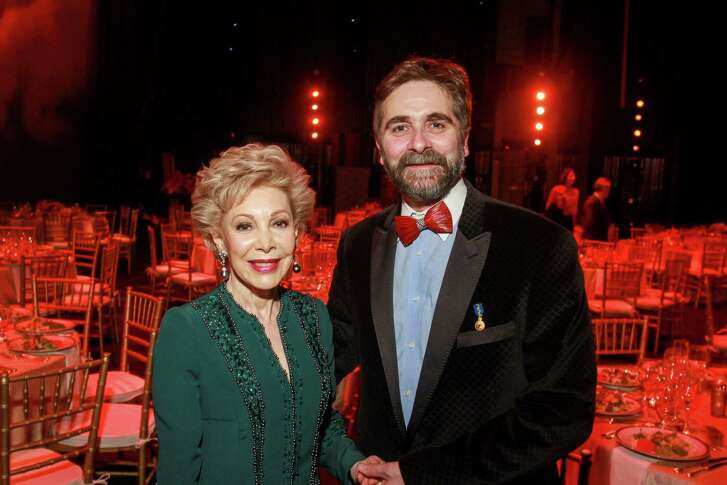 Honoree Margaret Alkek Williams and Houston Ballet artistic director Stanton Welch, A.M.