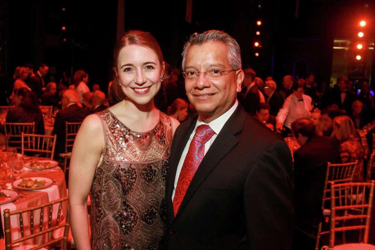 Principal dancer Jessica Collado and Bank of America's David Ruiz