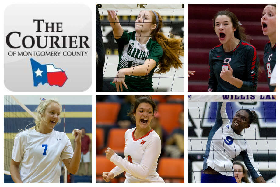 Macie Draudt (TWCA), Kenzie Arent (Oak Ridge), Natalie Martin (Oak Ridge), Dylan Maberry (The Woodlands) and De'Janae Gilmore (Willis) are The Courier's nominees for Offensive MVP. Photo: Staff Photos