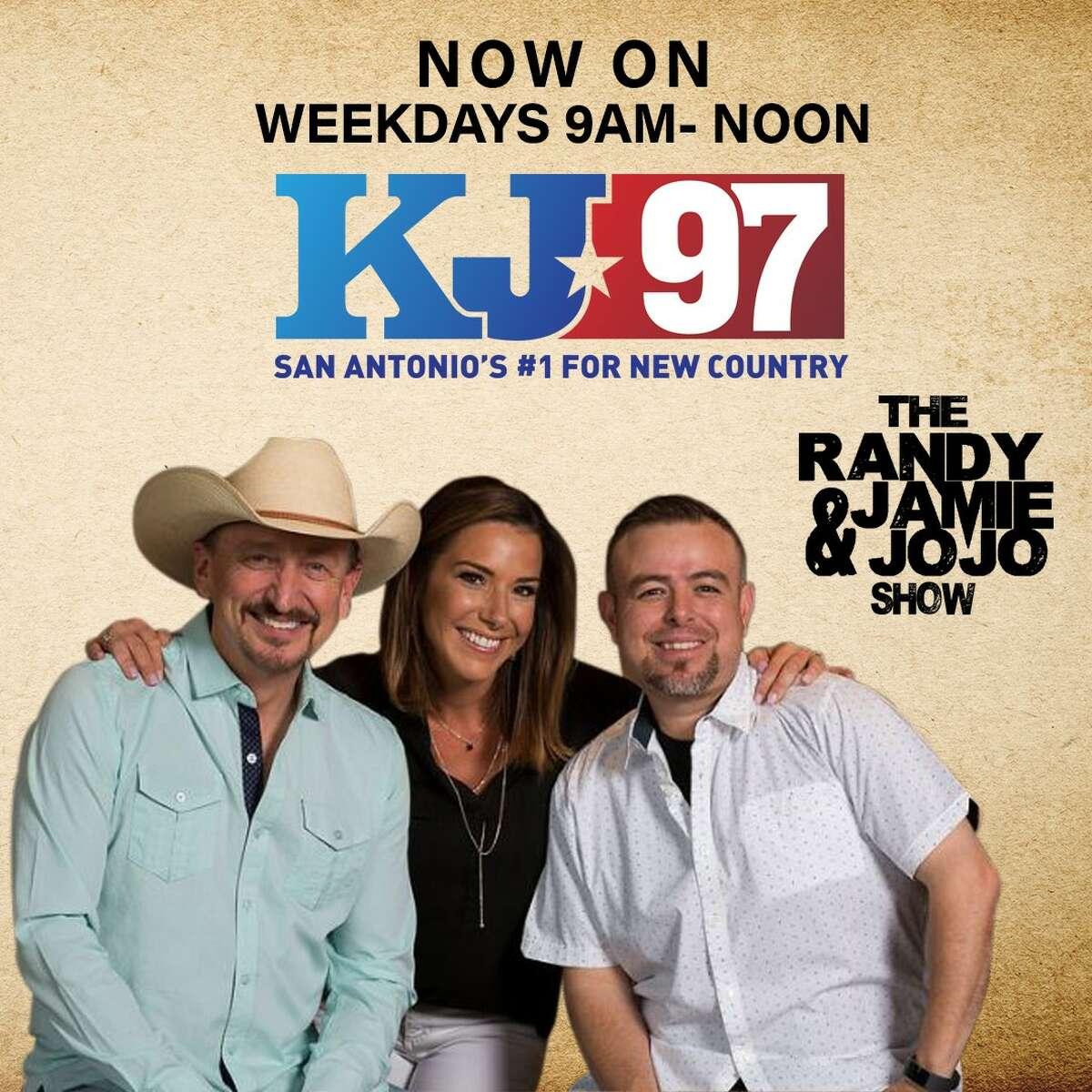 The Randy, Jamie & JoJo show, KJ-97 Wake up to this trio weekday mornings. JoJo joined Randy and Jamie in 2015 after spending time in Austin Radio. Follow: @randyjaimejojo
