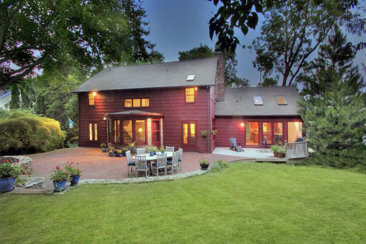 The 19th century Goodsell Barn at 161 Sturges Highway was transformed into a modern day residence with an open floor plan, gourmet kitchen, and lots of living space on three levels.