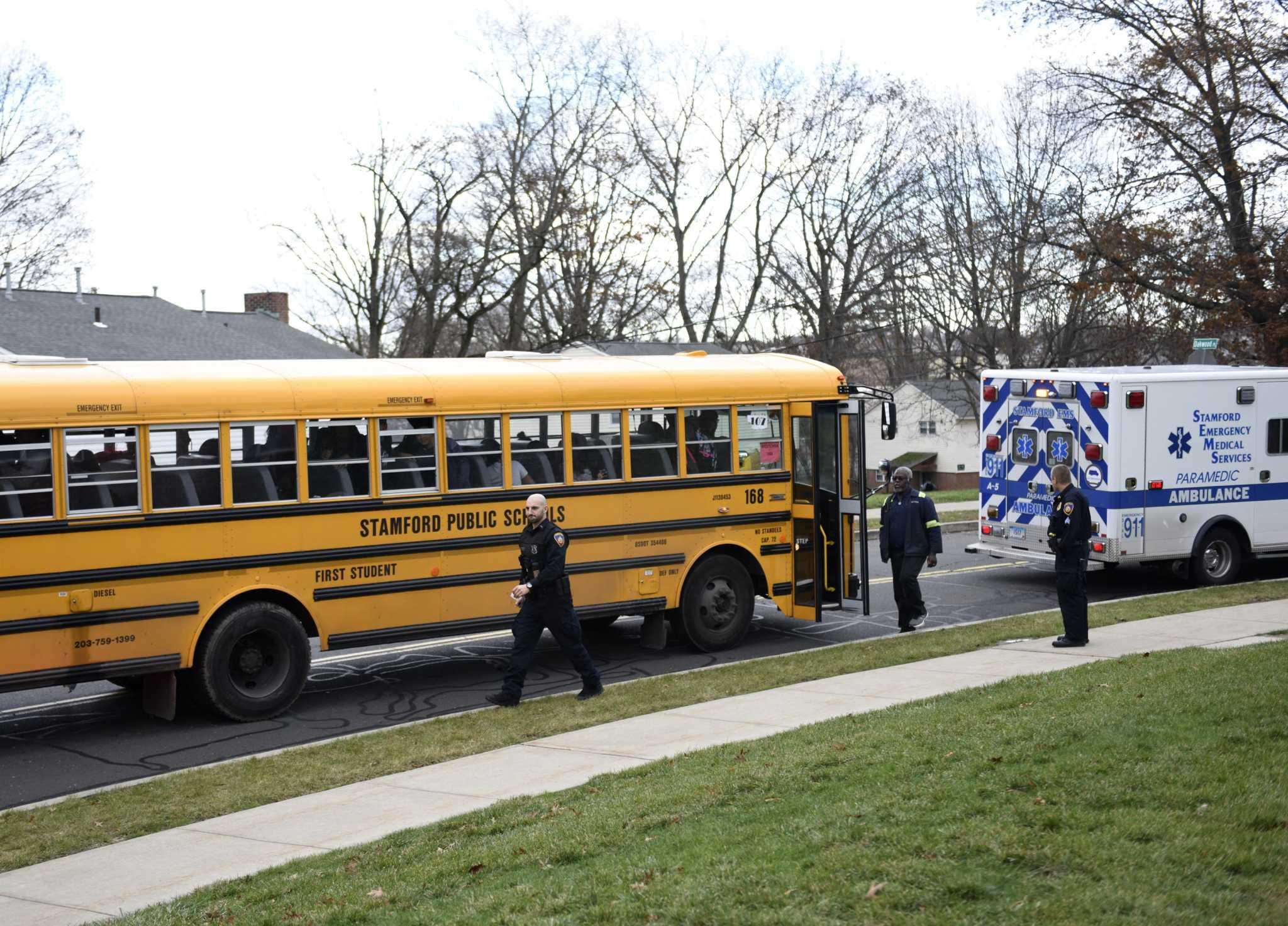 full stamford school bus hits ambulance - san antonio express-news