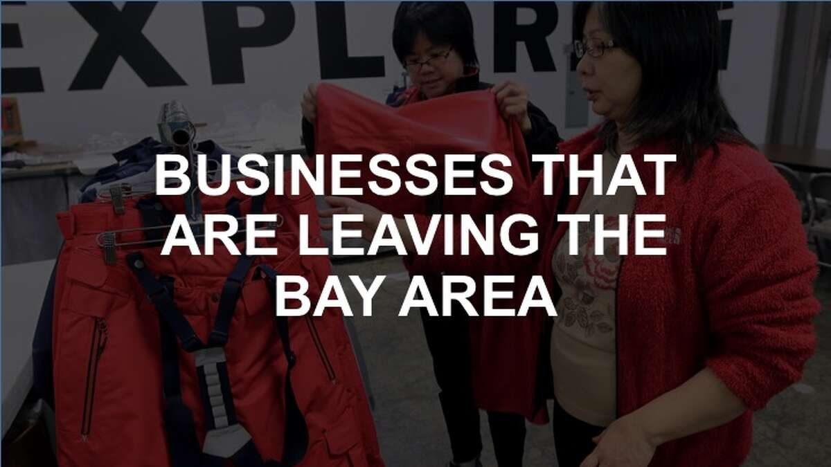 Click through the gallery to see what businesses have left the Bay Area.
