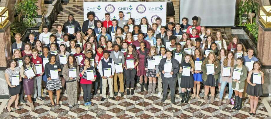State Treasurer Denise L. Nappier awarded 200 freshmen and seniors from across the state $500,000 in scholarships through the annual CHET Advance Scholarship program, including those from Clinton, Old Saybrook, Rockfall and Westbrook. Photo: Contributed Photo