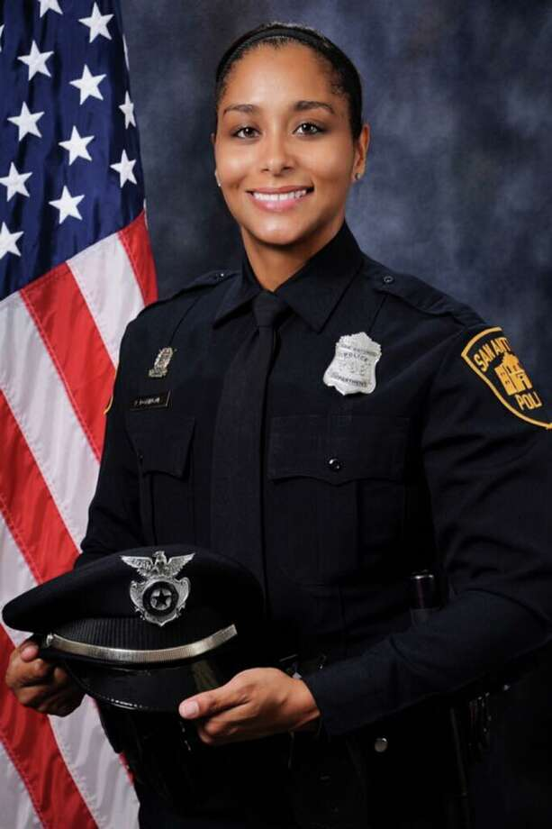 "On Monday, SAPD announced the additions of officers Perla Dominquez and Marshall Davis to the SWAT unit. The department's social media pages highlighted Dominquez as the ""first female to successfully complete the SWAT tryout process and be selected to the SWAT Unit."" Davis, a six-year veteran, is joining his brother on the unit. Photo: Courtesy, SAPD"