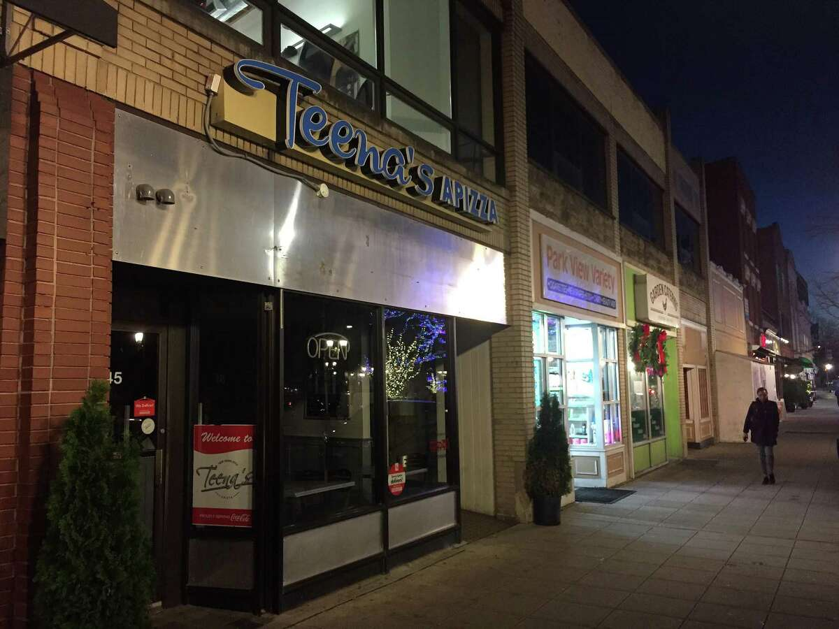 Teena's Apizza stands empty at 245 Main St. in downtown Stamford on Monday.