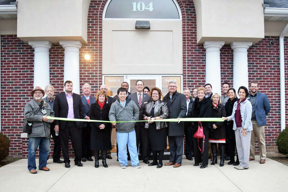 Leadership Council officers, executive committee members, board members, and community representatives gathered for a ribbon cutting and open house Monday, in celebration of the Leadership Council's new office space at 104 Magnolia Drive, Suite B, in Glen Carbon. Photo: For The Intelligencer