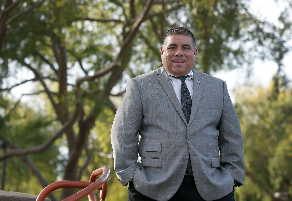 Newly elected Union City city councilmember Jaime Pati�o is seen at William M.Cann Memorial Civic Center park in Union City, Calif. on Friday, Nov. 30, 2018.