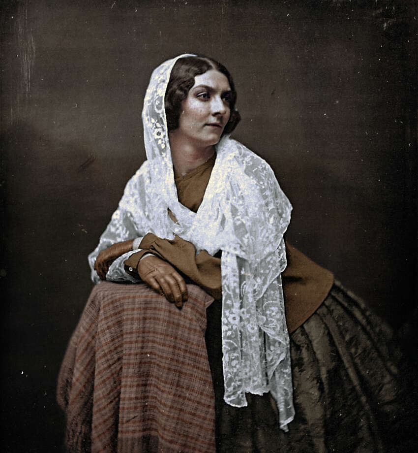 "A photo of Lola Montez, a well-known Spanish dancer. Matt Loughrey and Sarah McWalter, of ""My Colorful Past,"" colorized daguerrotypes made during the California Gold Rush. The images were taken around 1850. Photo: Courtesy: My Colorful Past/@mycolorfulpast"