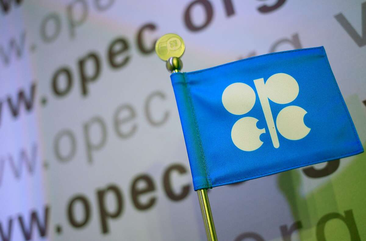 (FILES) In this file photo taken on December 03, 2013 The logo of the OPEC (Organization of the Petroleum Exporting Countries) is seen at the organization's headquarter on the eve of the 164th OPEC meeting in Vienna, Austria. NEXT: See which countries are members of OPEC.
