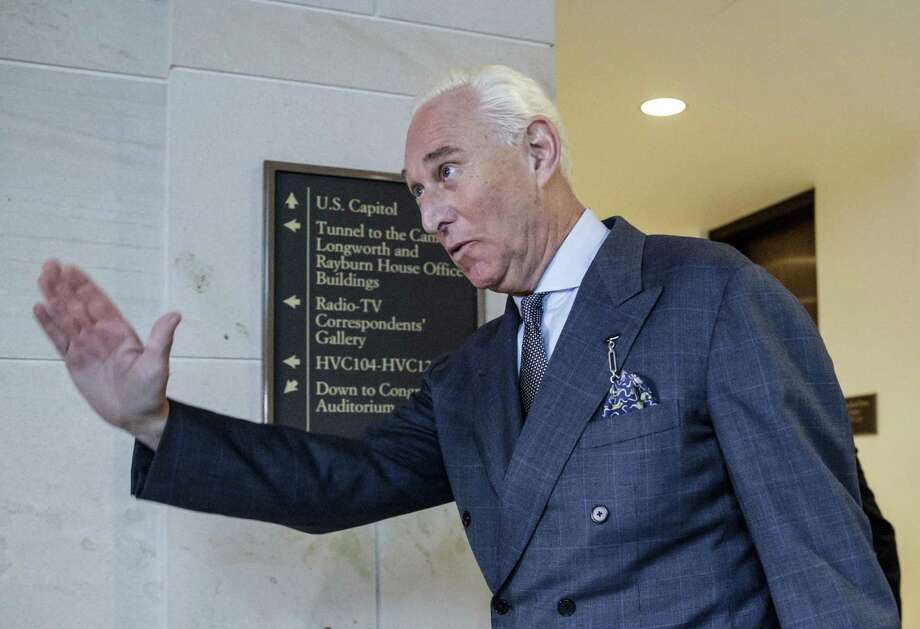 "Trump adviser Roger Stone's 'I'm a liar"" defense has its limitations. Photo: J. Scott Applewhite /Associated Press / Copyright 2017 The Associated Press. All rights reserved."