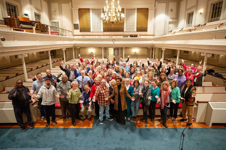 """""""Music at the Meetinghouse"""" presents """"Shoreline Soul"""" in a Holiday Gospel Concert directed by professional recording artist, Angela Clemmons, on Sunday, Dec. 9. Photo: Contributed Photo / Riverstone Images 2018"""