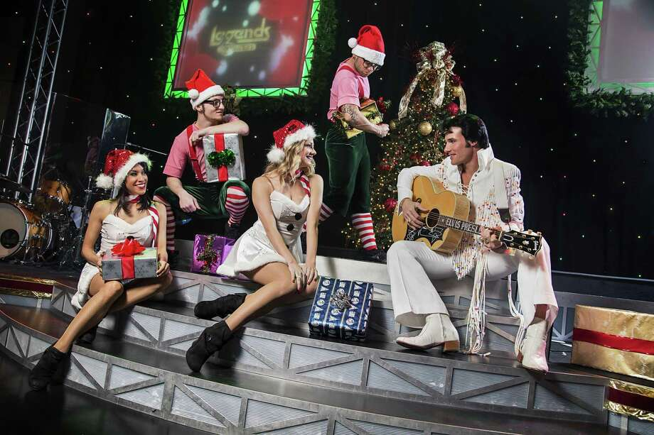"Leo Days, as Elvis Presley, is among the stars of the ""Legends in Concert Holiday Show,"" at Foxwoods Resort Casino through Dec. 31. Photo: Legends In Concert / Contributed Photo"