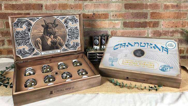 The Lowell Herb Co Hanukkah gift set, with eight strains for the eight nights of the Jewish holiday. $300, www.lowellsmokes.com