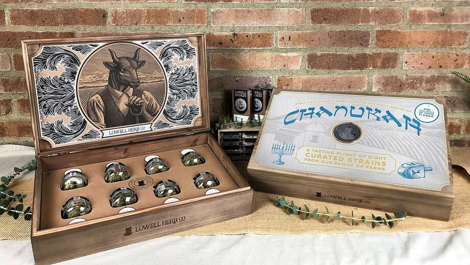 The Lowell Herb Co Hanukkah gift set, with eight strains for the eight nights of the Jewish holiday. $300, www.lowellsmokes.com Photo: Lowell Herb Co
