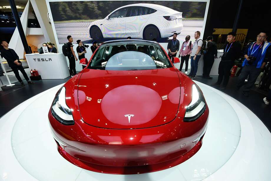 The Tesla Model 3 in Beijing, China. (Sipa USA/TNS) Photo: Sipa Asia, TNS
