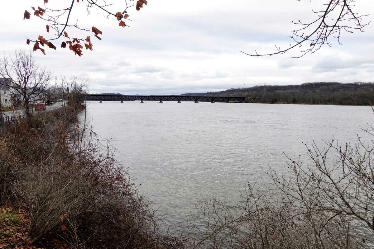 A view of section of the Hudson River which had been dredged is seen here on Monday, Dec. 3, 2018, in Mechanicville, N.Y. (Paul Buckowski/Times Union)