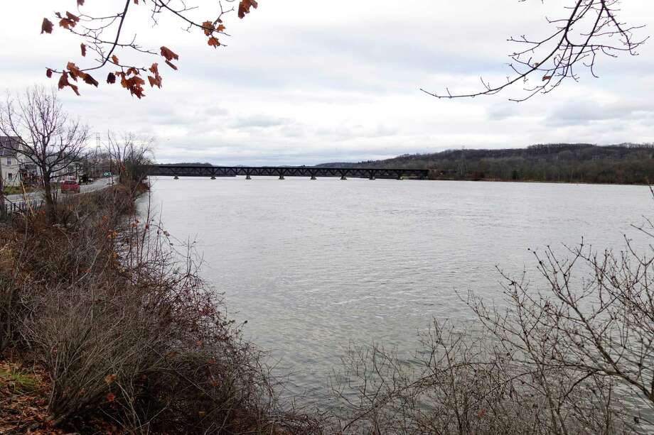 A view of section of the Hudson River which had been dredged is seen here on Monday, Dec. 3, 2018, in Mechanicville, N.Y.   (Paul Buckowski/Times Union) Photo: Paul Buckowski / (Paul Buckowski/Times Union)