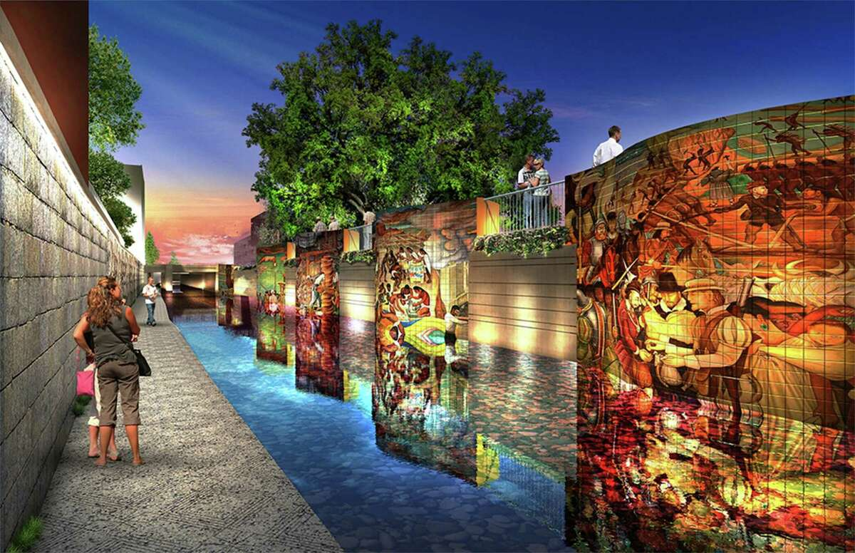 Commissioners on Tuesday will expand their ambitious plan revitalizing San Pedro Creek by three more blocks, adding an outdoor venue near the Alameda Theater and a large tile mural near the Spanish Governor's Palace.