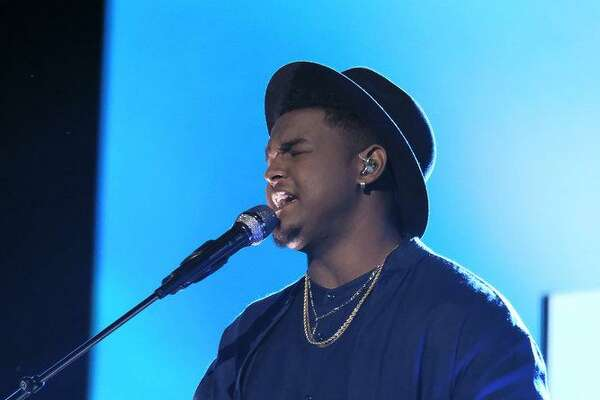 DeAndre Nico performs during The Voice top 13 show.