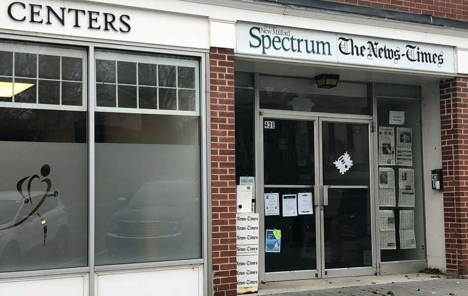 The New Milford office of The Greater New Milford Spectrum and The News-Times will hold its annual holiday open house Dec. 13 from noon to 4 p.m. at its new office at 43E Main St., next door to where it had been situated since May of 1998. It is now next to the Physical Therapy & Sports Medicine Centers. The Spectrum is celebrating its 20th anniversary this year. Photo: Deborah Rose / Hearst Connecticut Media / The News-Times  / Spectrum