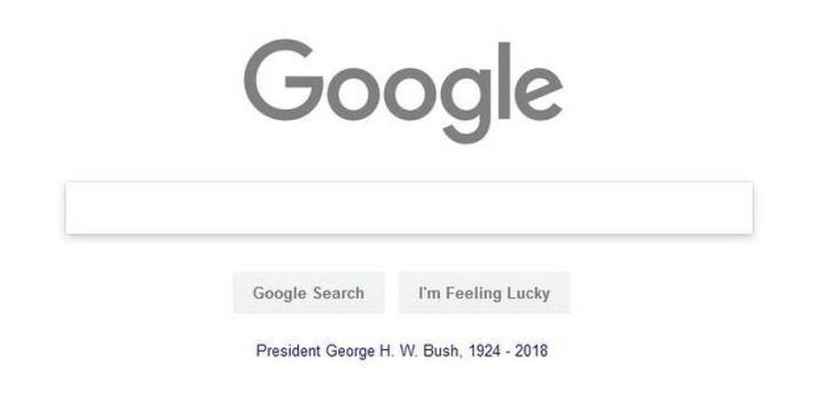 Google grays out its Doodle to honor former President George H. W. Bush, who died last week at age 94. Photo: Google