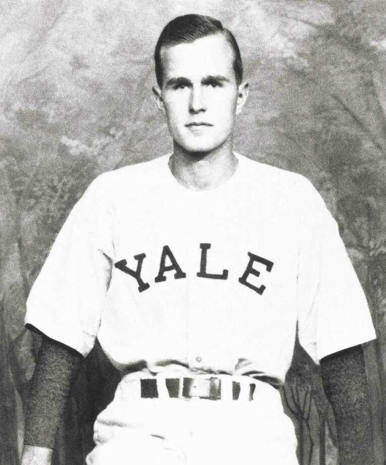 George H.W. Bush is shown as captain of the Yale baseball team in New Haven 1948. Photo: Associated Press