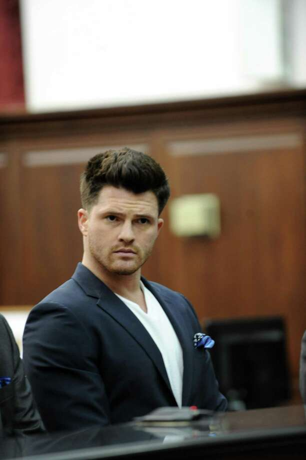 James Rackover, who has been charged in connection with the stabbing death of Joey Comunale of Stamford, Conn, was arraigned in Criminal Court in New York on Friday, Nov. 18, 2016. Rackover was charged with concealment of a human corpse, tampering with physical evidence and hindering prosecution. He was not arraigned on the second-degree murder charge that the New York Police Department arrested him for on Thursday. Photo: Sam Costanza / NY Daily News Via Getty Images / 2016/Daily News, L.P. (New York)  Sam Costanza/NY Daily News via Getty Images