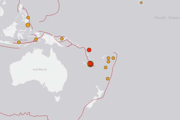 A magnitude 7.5 quake hit near New Caledonia on Dec. 5, 2018. It was felt as far away as Vanuatu, about 390 miles away.