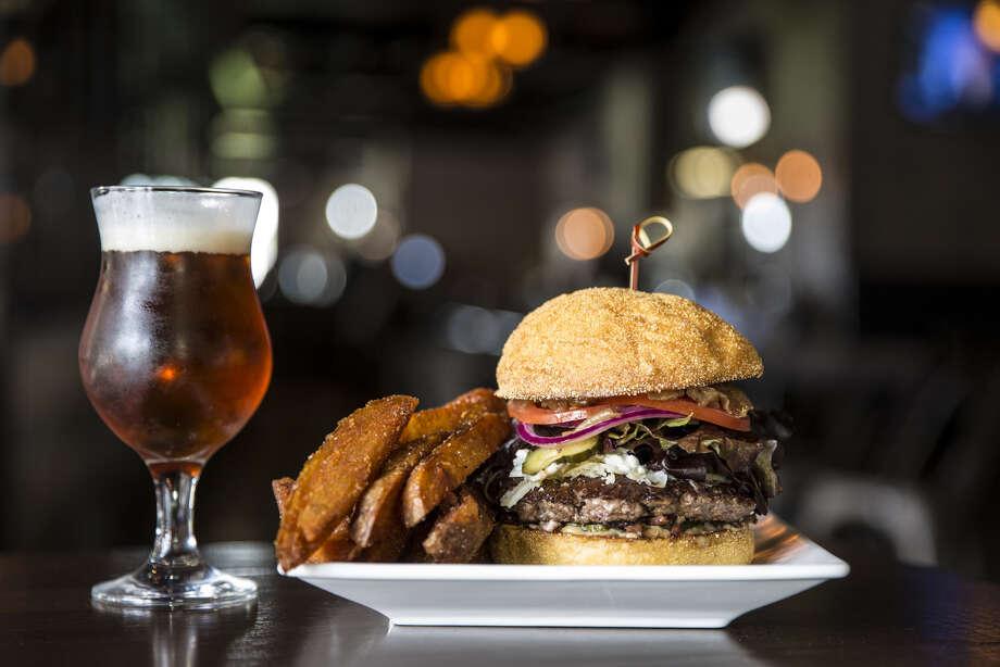 The Bosscat Burger at Bosscat Kitchen & Libations, Houston. Photo: Julie Soefer