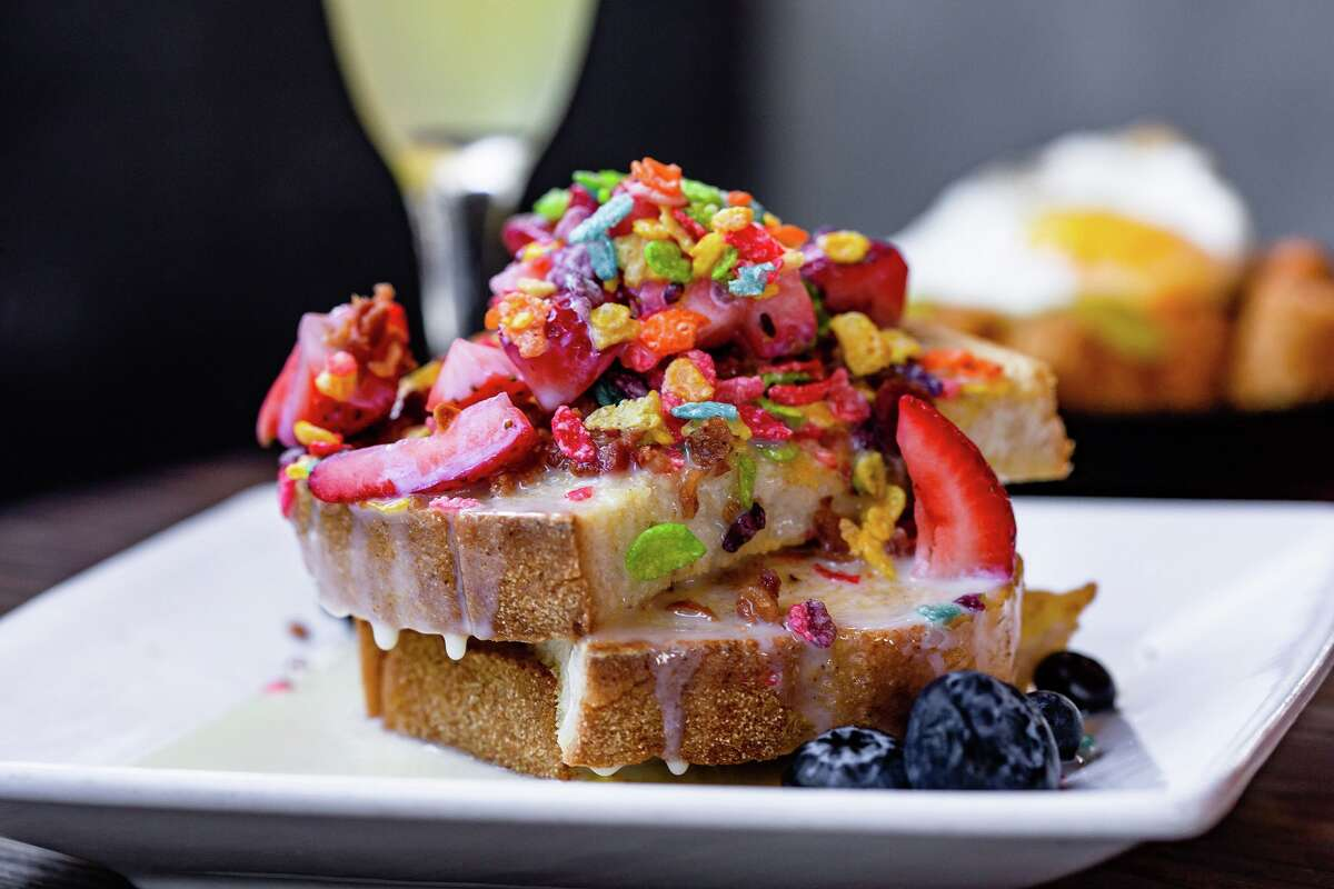 Fruity Pebbles French toast at Bosscat Kitchen & Libations.