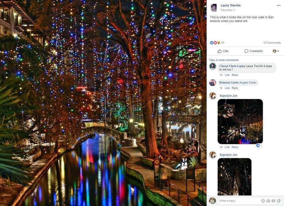 "Laura Trevino: ""This is what it looks like on the river walk in San Antonio when you stand still"" Photo: Facebook Screengrab"