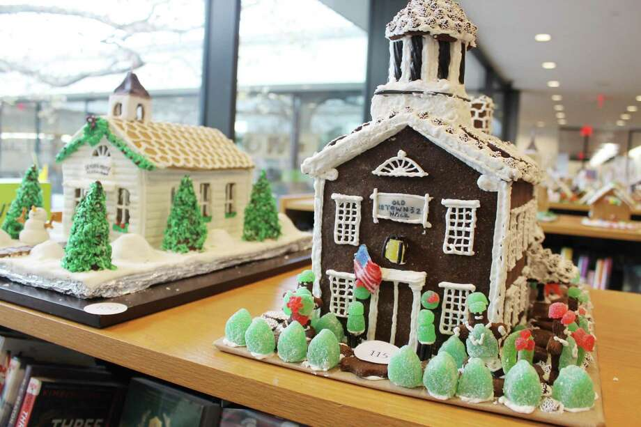"The Old Town Hall is just one of the more than 30 submissions for the ""How Sweet It Is In Wilton"" Gingerbread Contest going on now at Wilton Library. The community is invited to pick its favorite, along with three judges who will be choosing winners in three categories out of two groups, for a total of seven entries winning Wilton Chamber of Commerce gift certificates. Voting takes place through Dec. 18 with winners announced Dec. 19 at 4 p.m. Photo: Contributed Photo / Contributed Photo / Norwalk Hour contributed"