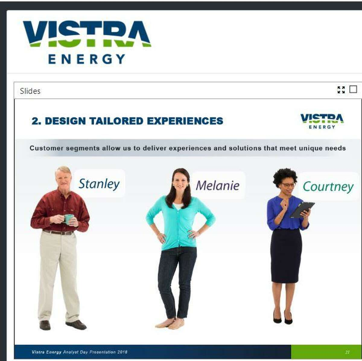 Vistra Energy profiles its customers so its agents can readily identify and respond to each customer type.