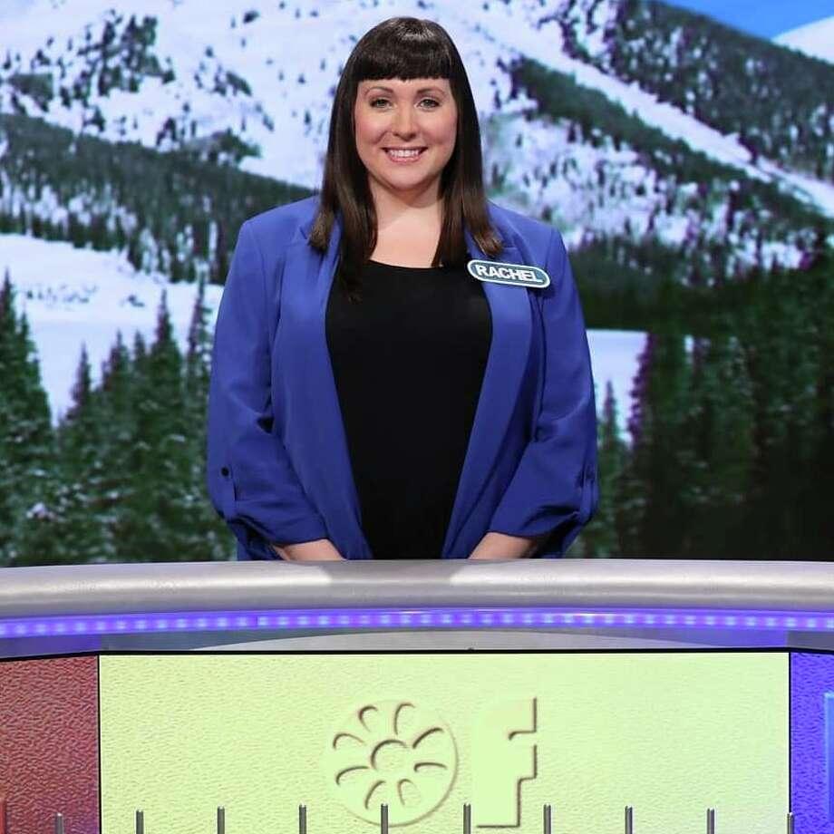 "Rachel Davis of Schenectady on the set of ""Wheel of Fortune."" Photo: Wheel Of Fortune"