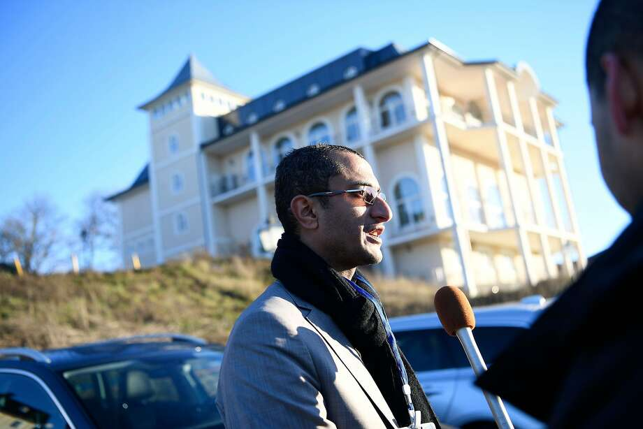 Saelem Mohammed Noman Al-Mughalles, a member of the Houthi delegation, gives an interview in Stockholm, where peace talks on Yemen war are expected to take place. Photo: Stina Stjernkvist / AFP / Getty Images
