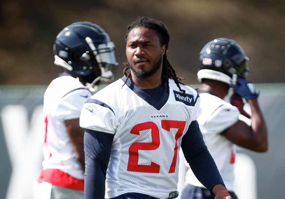 PHOTOS: Houston Texans baby photos (2018) Houston Texans running back D'Onta Foreman (27) walks across the practice field during training camp at the Greenbrier Sports Performance Center on Tuesday, Aug. 7, 2018, in White Sulphur Springs, W.Va. >>>See if you can tell these Texans players from their childhood photos ... Photo: Brett Coomer/Staff Photographer / © 2018 Houston Chronicle
