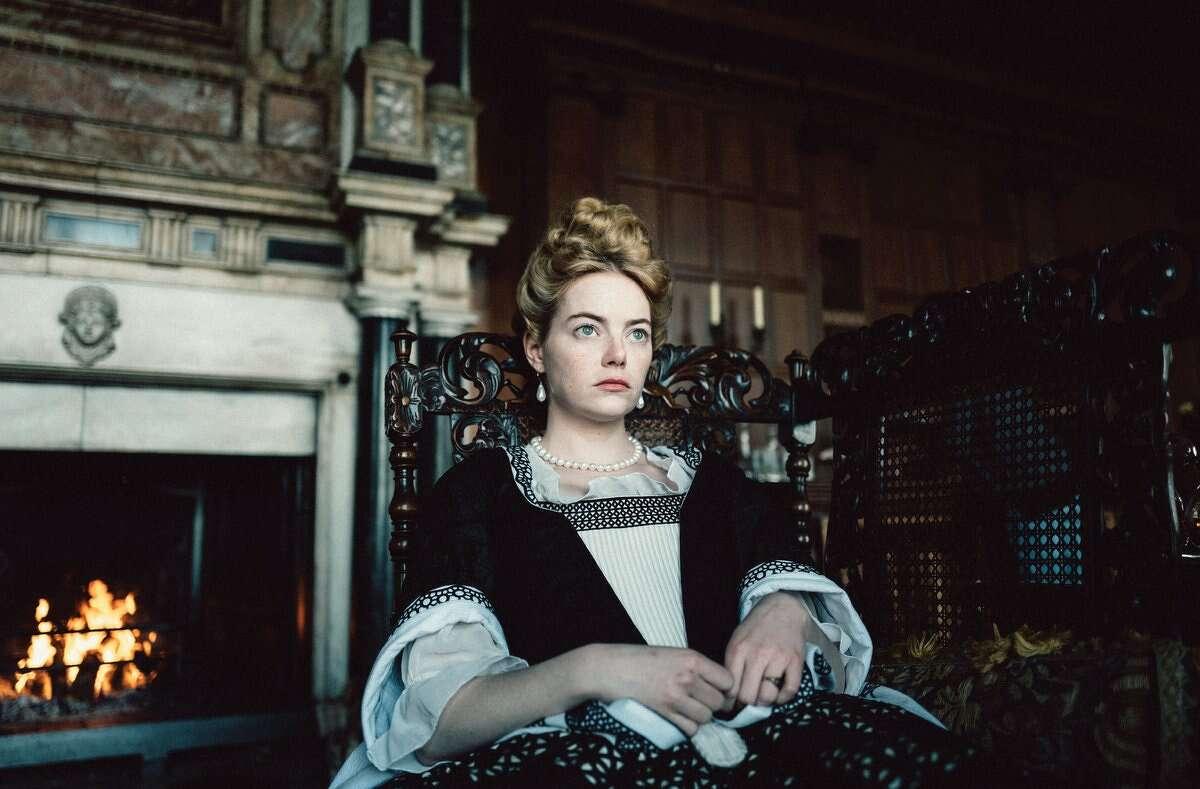 Emma Stone stars in 'The Favourite'